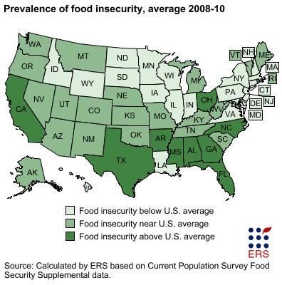 food insecurity in the united states While 159% of americans lived in food-insecure households, 216%  feeding  america — the largest hunger relief charity and network of food.