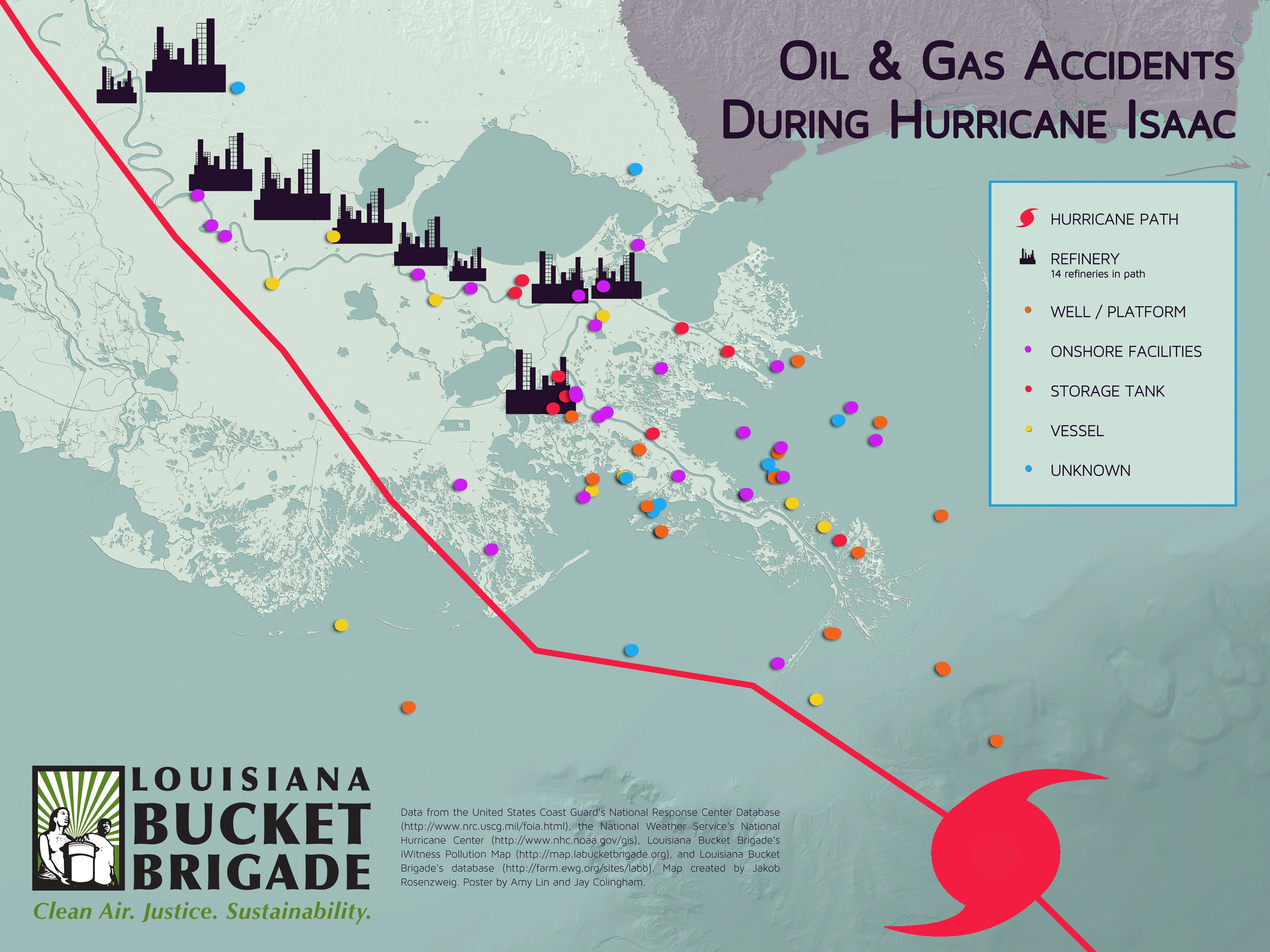 Insute Index A Negligent Oil Industry Dumps On Louisiana During Hurricane Isaac Facing South