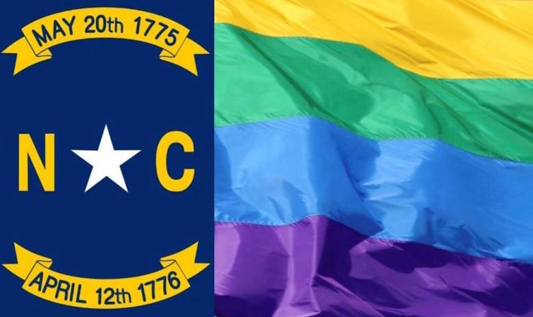 North Carolina Rainbow Flag