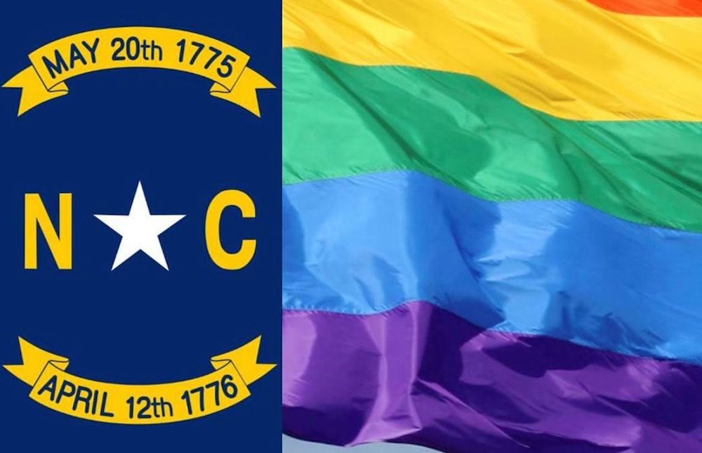 North Carolina Rainbow Flag