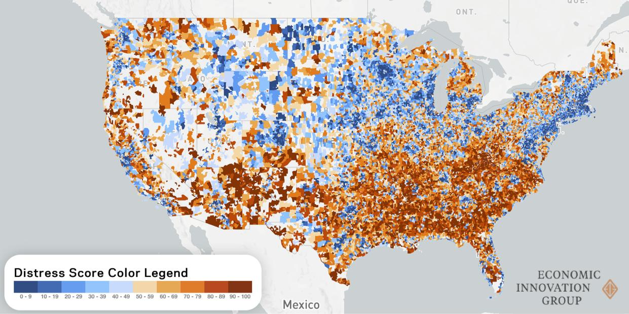 Distressed Communities Map