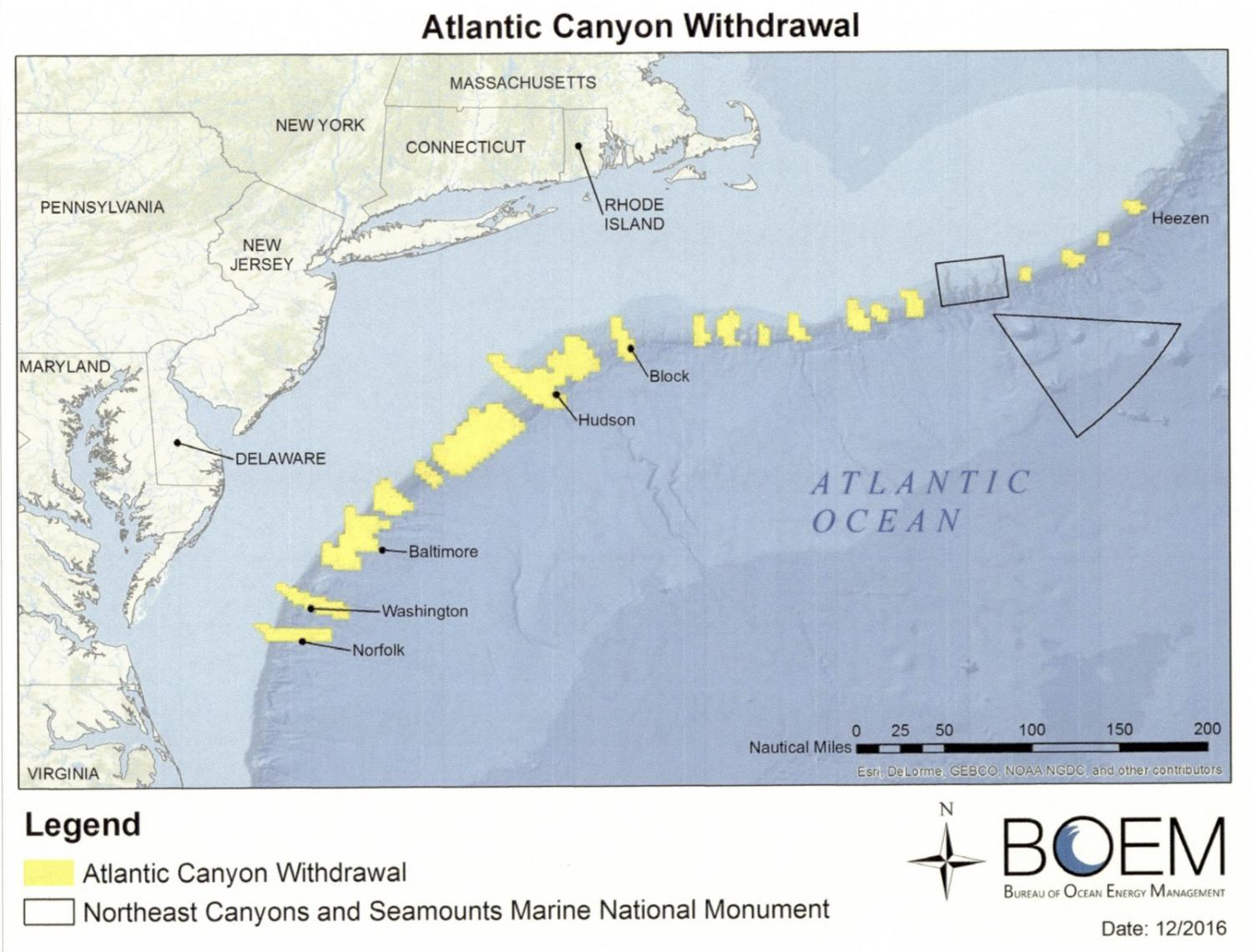 Obamas permanent Atlantic drilling ban excludes most of the