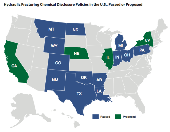 Southern states lack adequate disclosure of fracking\'s chemical ...
