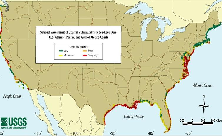 What Happened After Congress Passed A Climate Change Law Very - New us map after sea level rise