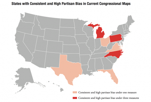 Brennan map of partisan bias in Congress